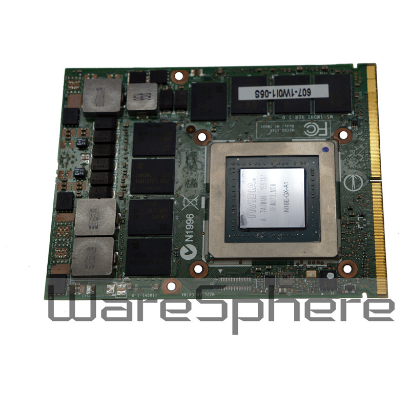 nvidia geforce gtx 980m gpu 8gb gddr5 graphics card for msi gt80