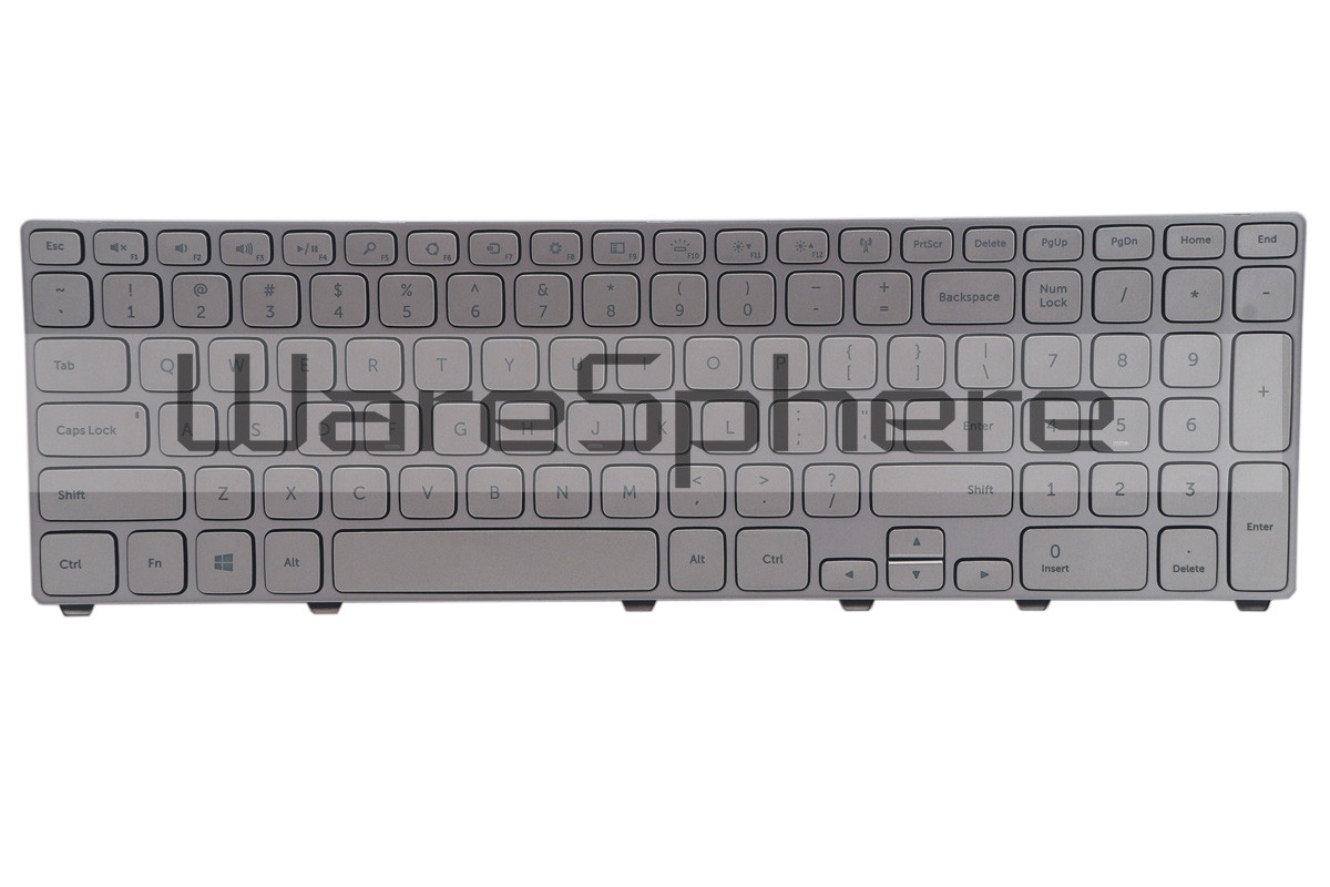 Backlit Keyboard For Dell Inspiron 17 7737 7746 P4G0N Silver US