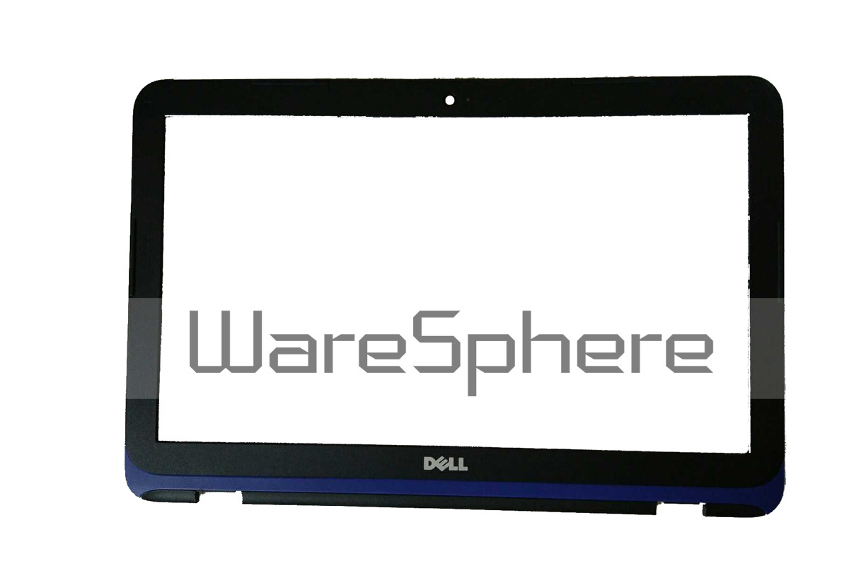 "LCD Front Bezel w/ Webcam Port 11.6"" for Dell Inspiron 11 (3162 / 3164) 7H0YC Black - Blue Trim"