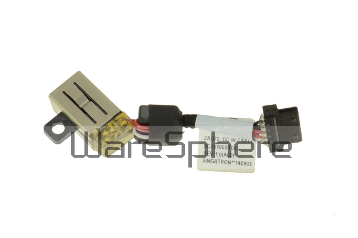 DC IN Power Jack w/Cable for DellLatitude 13 (7350) A14891 DC30100ST00