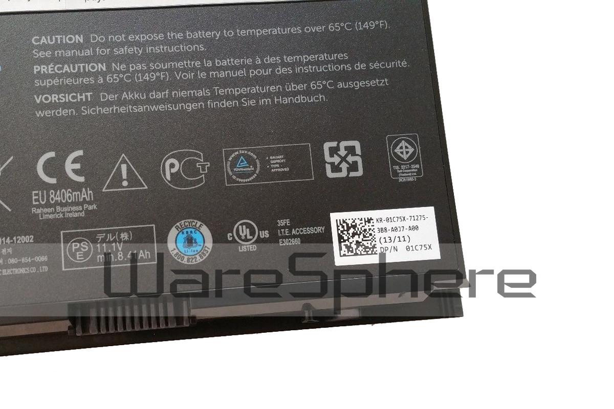 97Wh 11.1V 9Cell Li-ion Battery for Dell Precision M4600 M4800 M6600 M6800  FV993 PG6RC