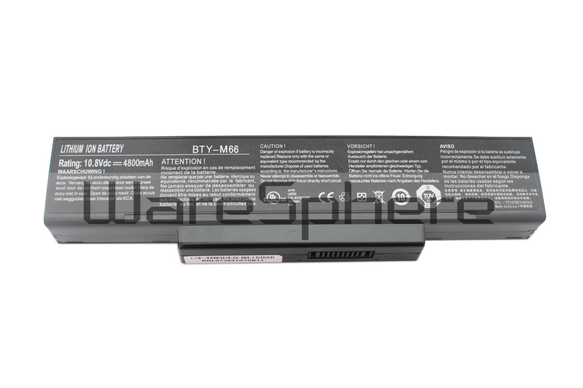 MSI 4800mAh BTY-M66 Li-ion battery  (BTY-M66)