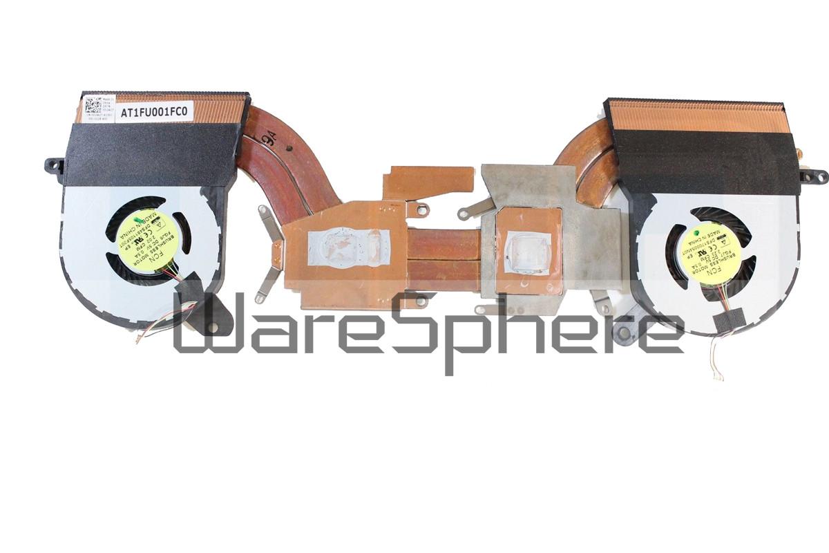 CPU Heatsink and Fan for Dell Alienware 13 R2 D2W2T