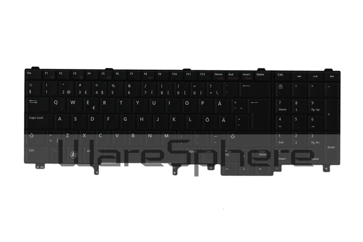 dell latitude E5520 E6520 Precision M4600 M6600 keyboard black ht0d2