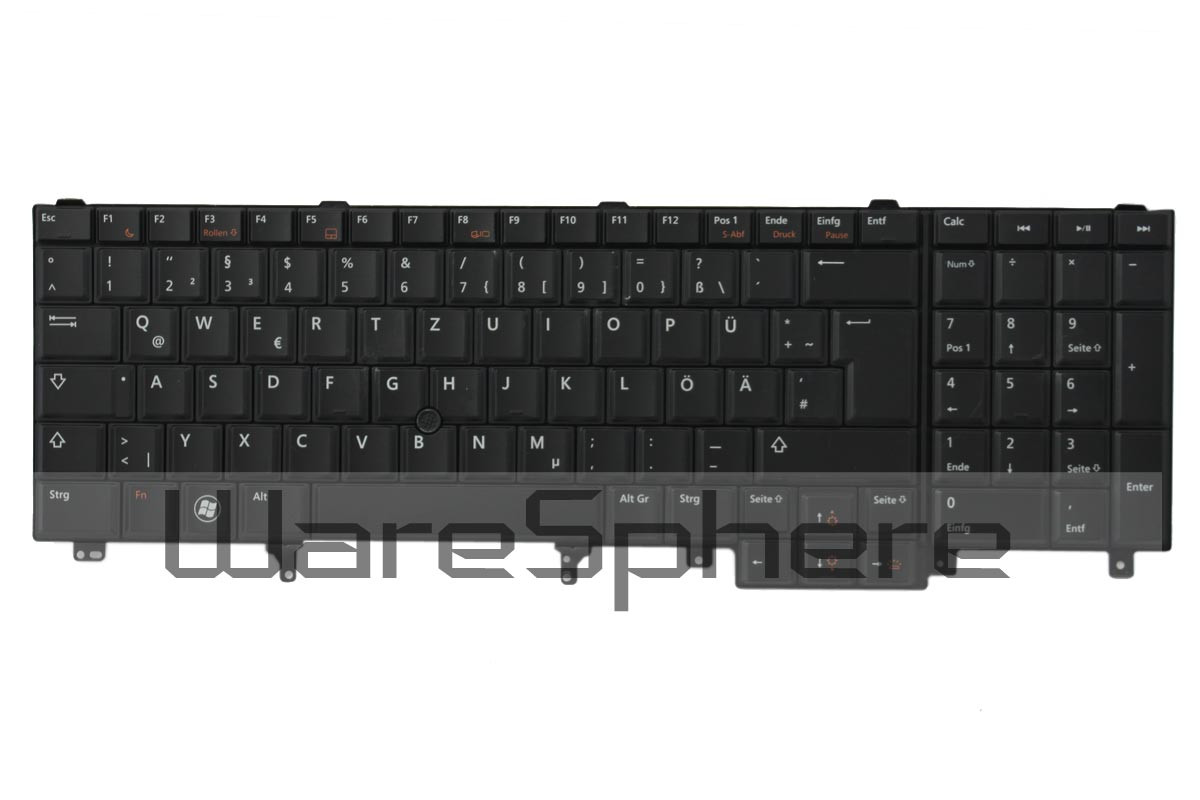 dell latitude E5520 E6520 Precision M4600 M6600 backlit keyboard black h0xjx