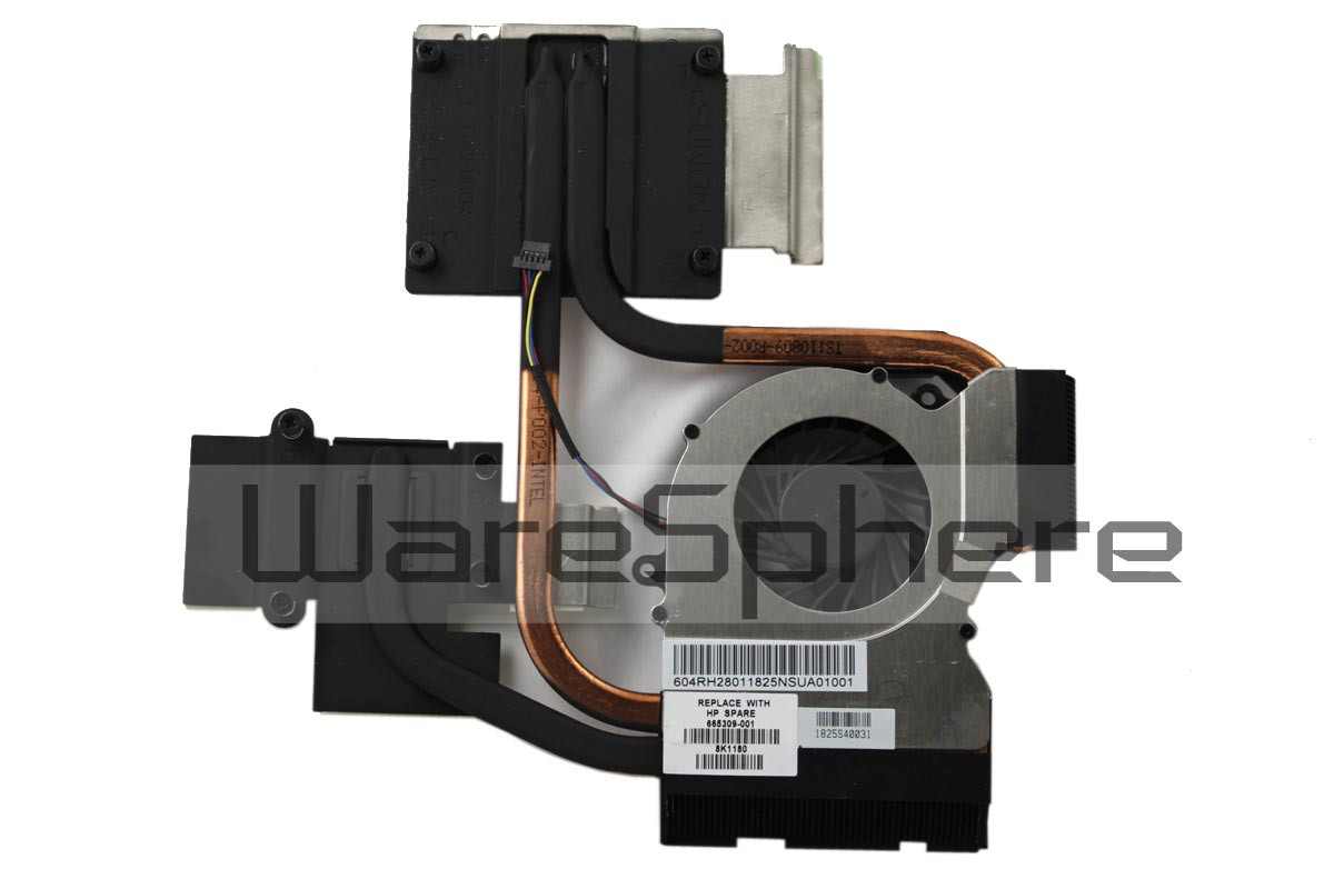 hp pavilion dv6-6000 heatsink fan 665309-001