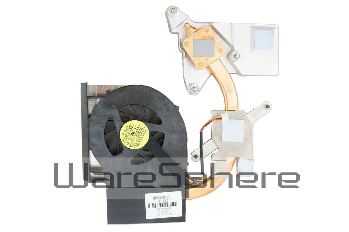 Heatsink and Fan for HP Compaq CQ61 G61 CQ71 G71 531220-001