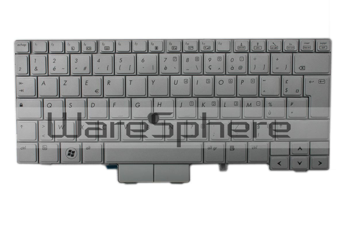 Keyboard for HP Elitebook 2740P Silver MP-09B66F06442 French