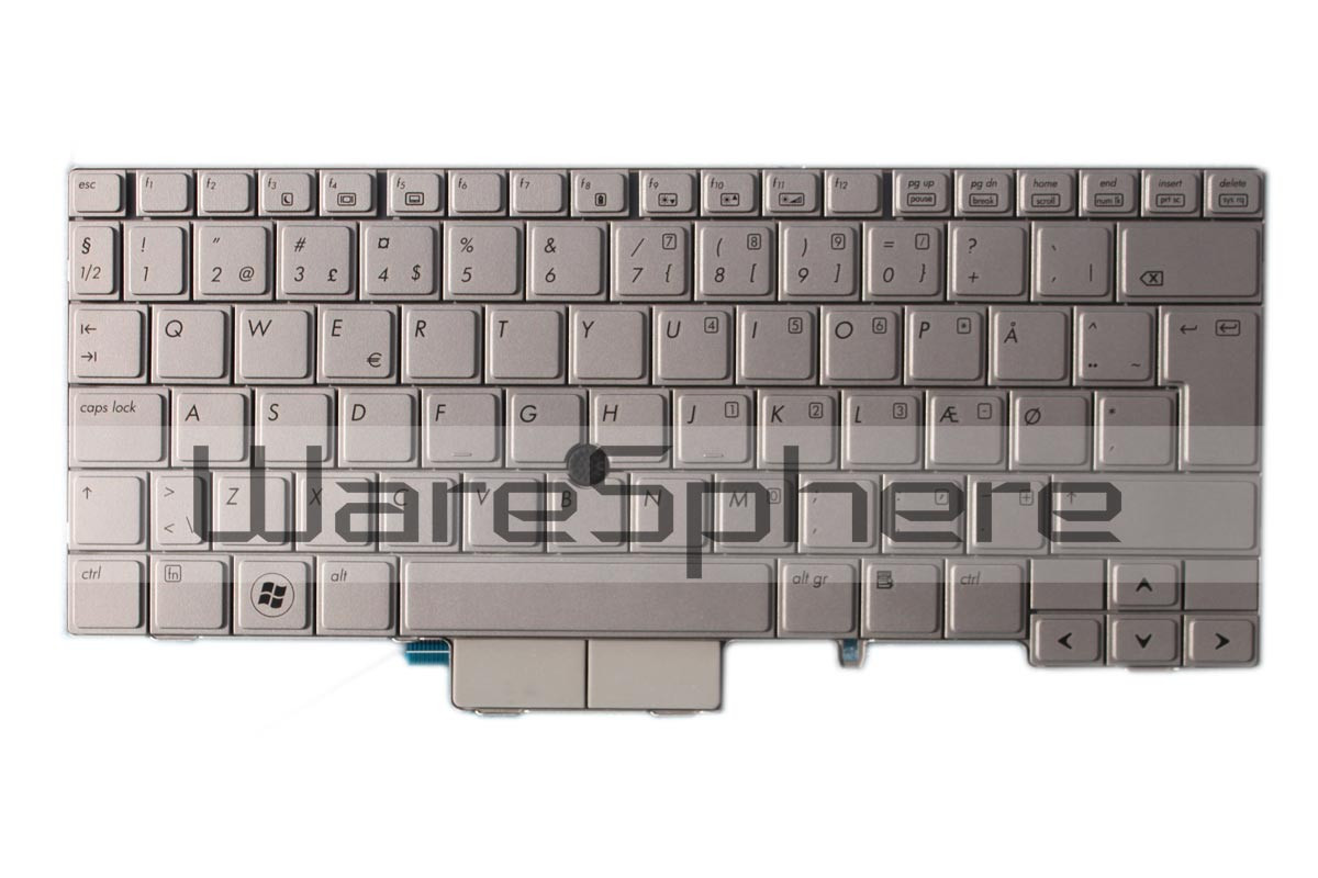Keyboard for HP Elitebook 2740P Silver MP-09B66DK6442 Danish