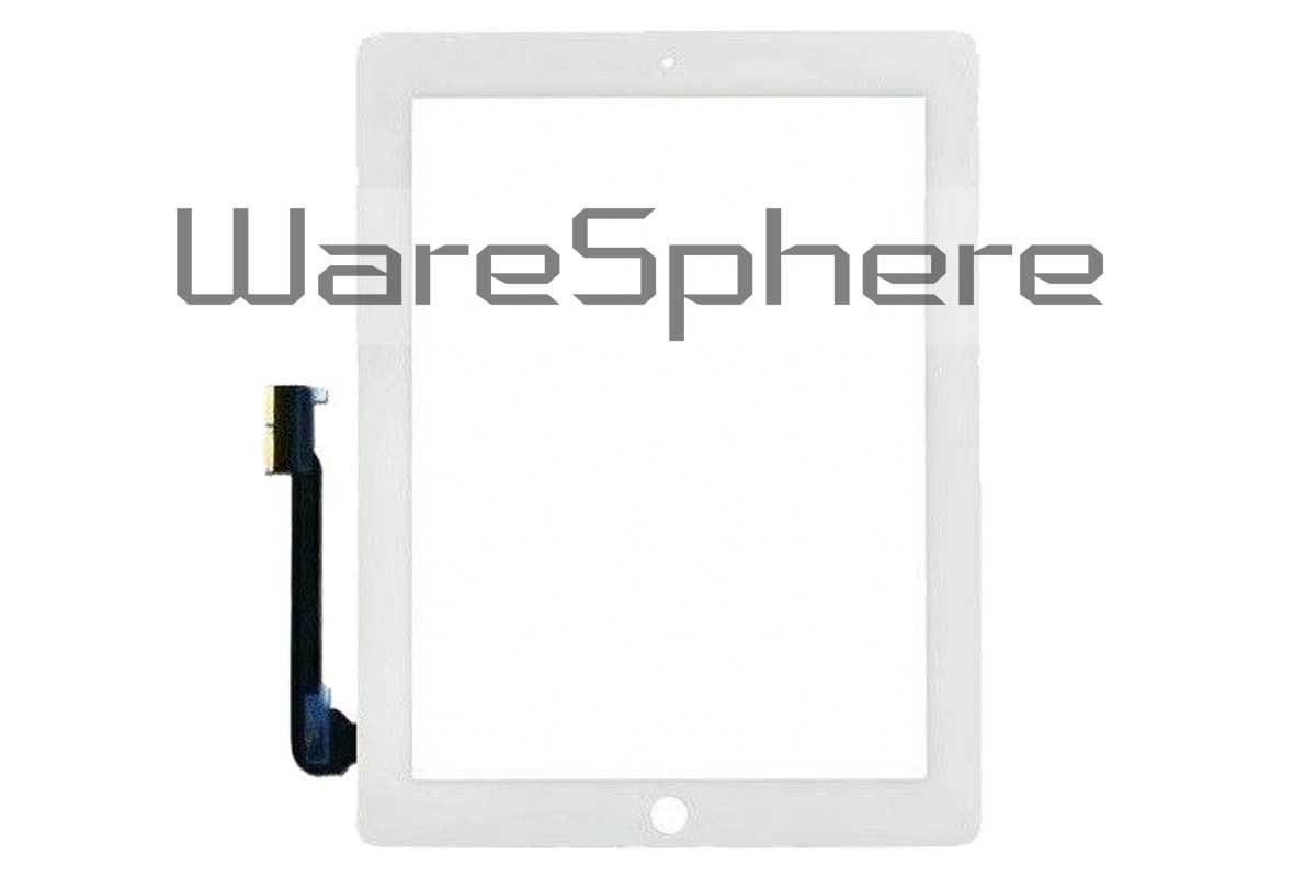 Touch Screen Replacement Digitizer Front Glass for  Apple iPad 3 White