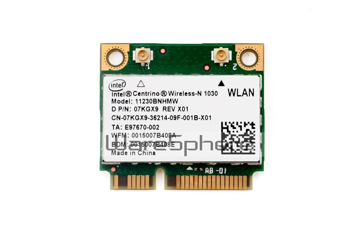 Intel Centrino Wireless-N 1030 802.11b/g/n Wi-Fi plus Bluetooth Adapter (7KGX9)