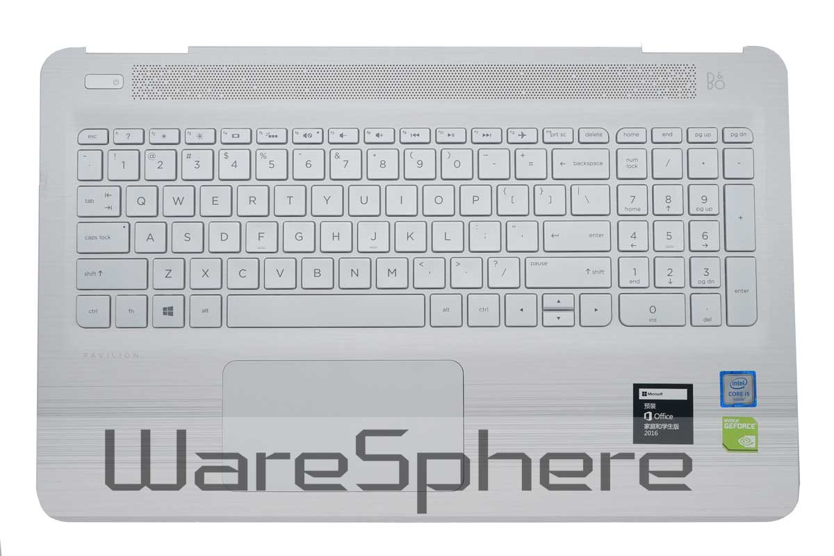 Top Cover Upper Case with Keyboard for HP Pavilion 15-AU 856044-001 White