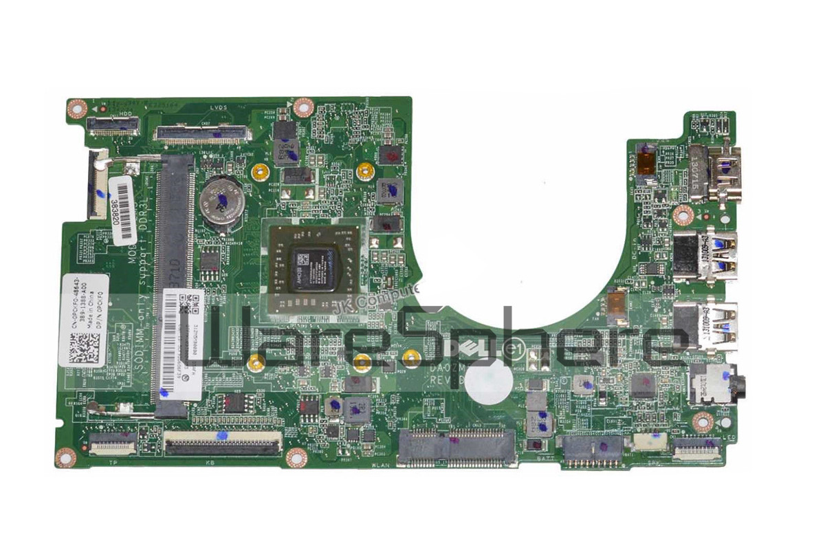 UMA Motherboard with AMD Quad Core 1.00GHz CPU for Dell Inspiron 11 (3135)  PCKF0
