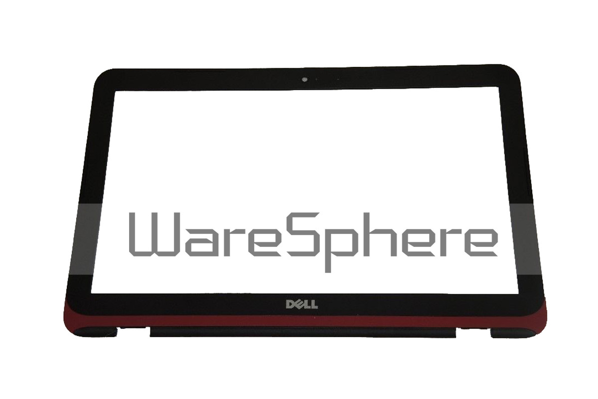 "LCD Front Bezel w/ Webcam Port 11.6"" for Dell Inspiron 11 (3162 / 3164) RPJV5 Black - Red Trim"