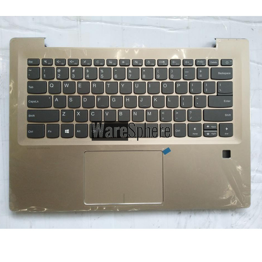 Top Cover Upper Case for Lenovo ideapad 520S-14IKB Palmrest with Backlit Keyboard Touchpad  5CB0N78415 Golden US
