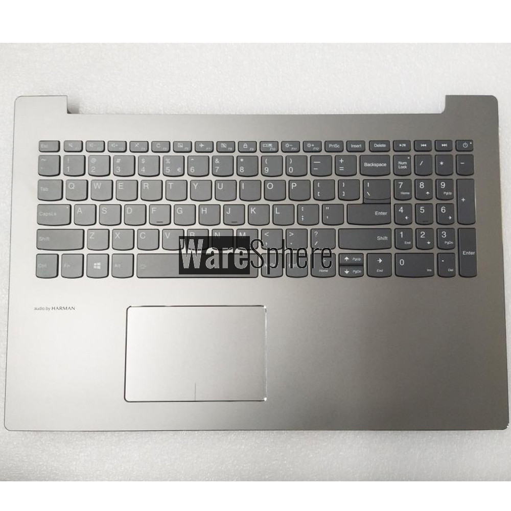 Top Cover Upper Case for Lenovo ideapad 520-15IKB Palmrest with Backlit Keyboard Touchpad with iht e 5CB0N98675 Silver US