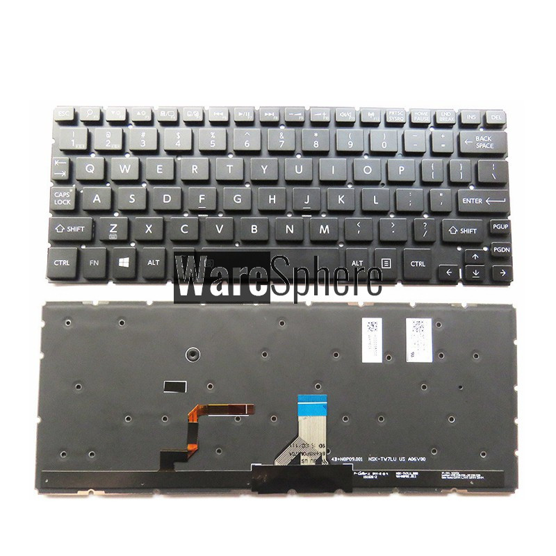 Laptop keyboard for Toshiba L15W l15w-b p20w-c p25w-c 9Z.N8PBU.701 0KN0-DV1US13 US Backlit black