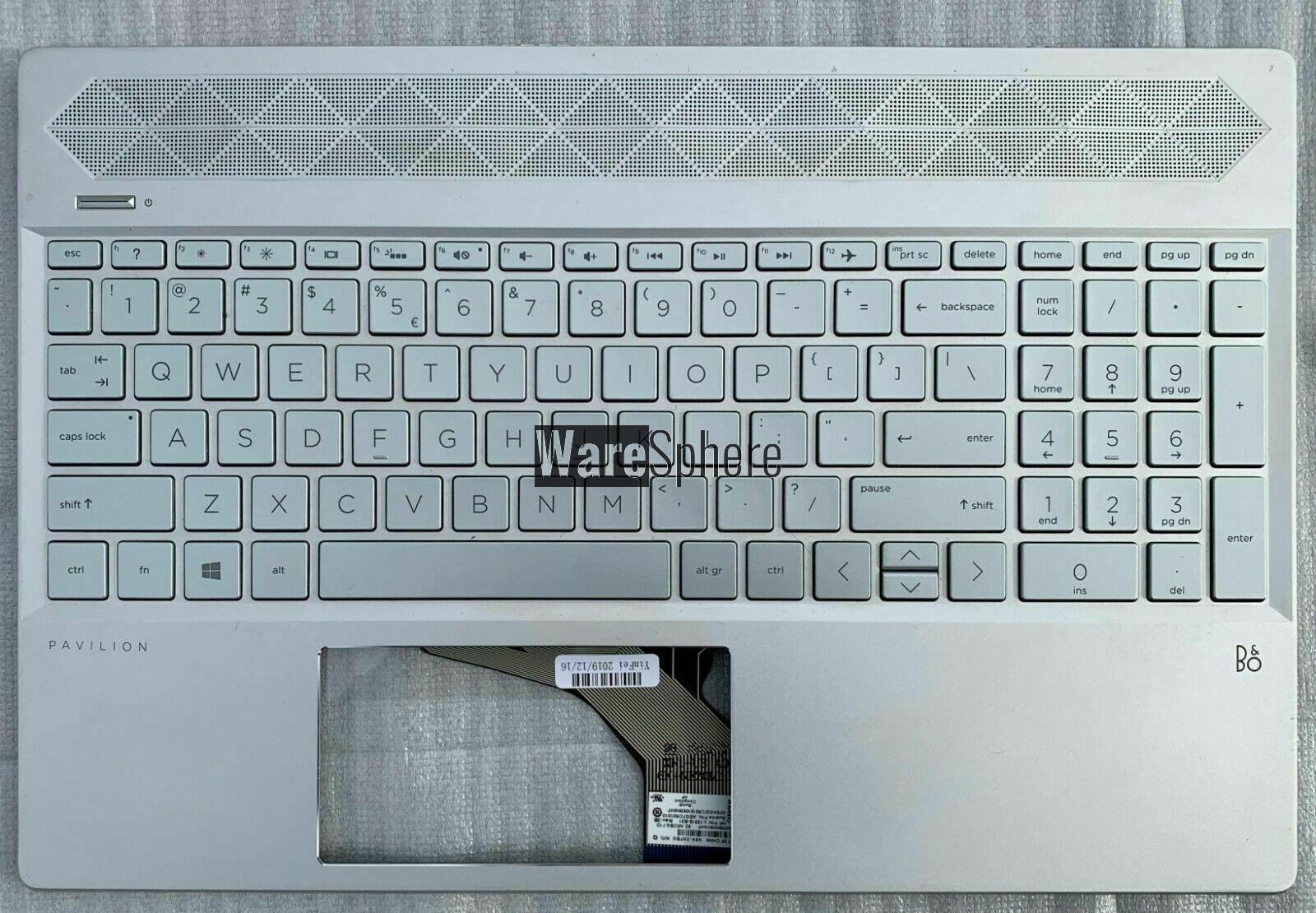Top Cover Upper Case For HP Pavilion 15-CS 15CS With Backlit Keyboard Sliver L24752-001