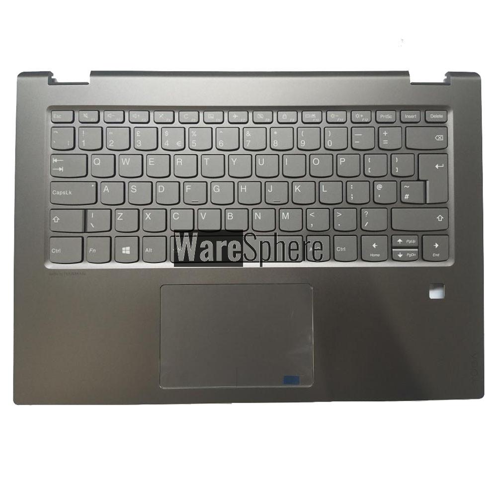 Top Cover Upper Case for Lenovo Yoga 520-14IKB  Palmrest with Backlit Keyboard Touchpad 5CB0N67765 Black UK