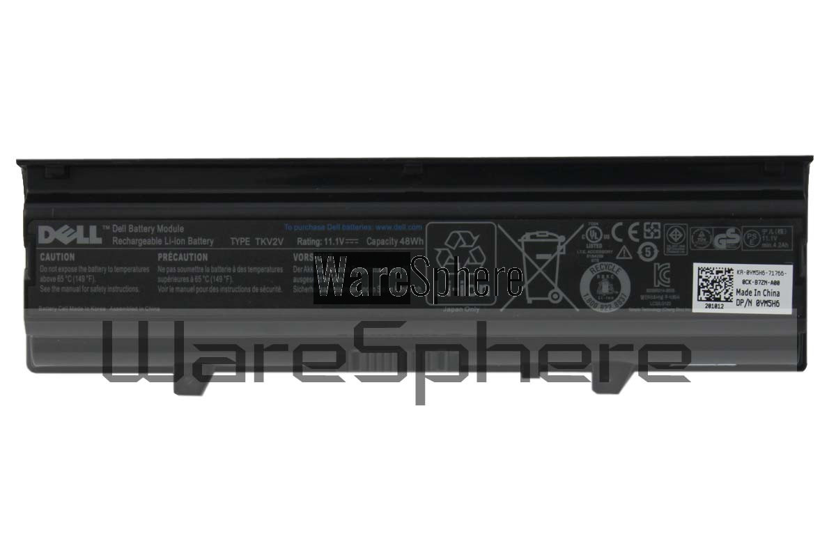 Dell 48Wh Rechargeable Li-Ion Battery TKV2V