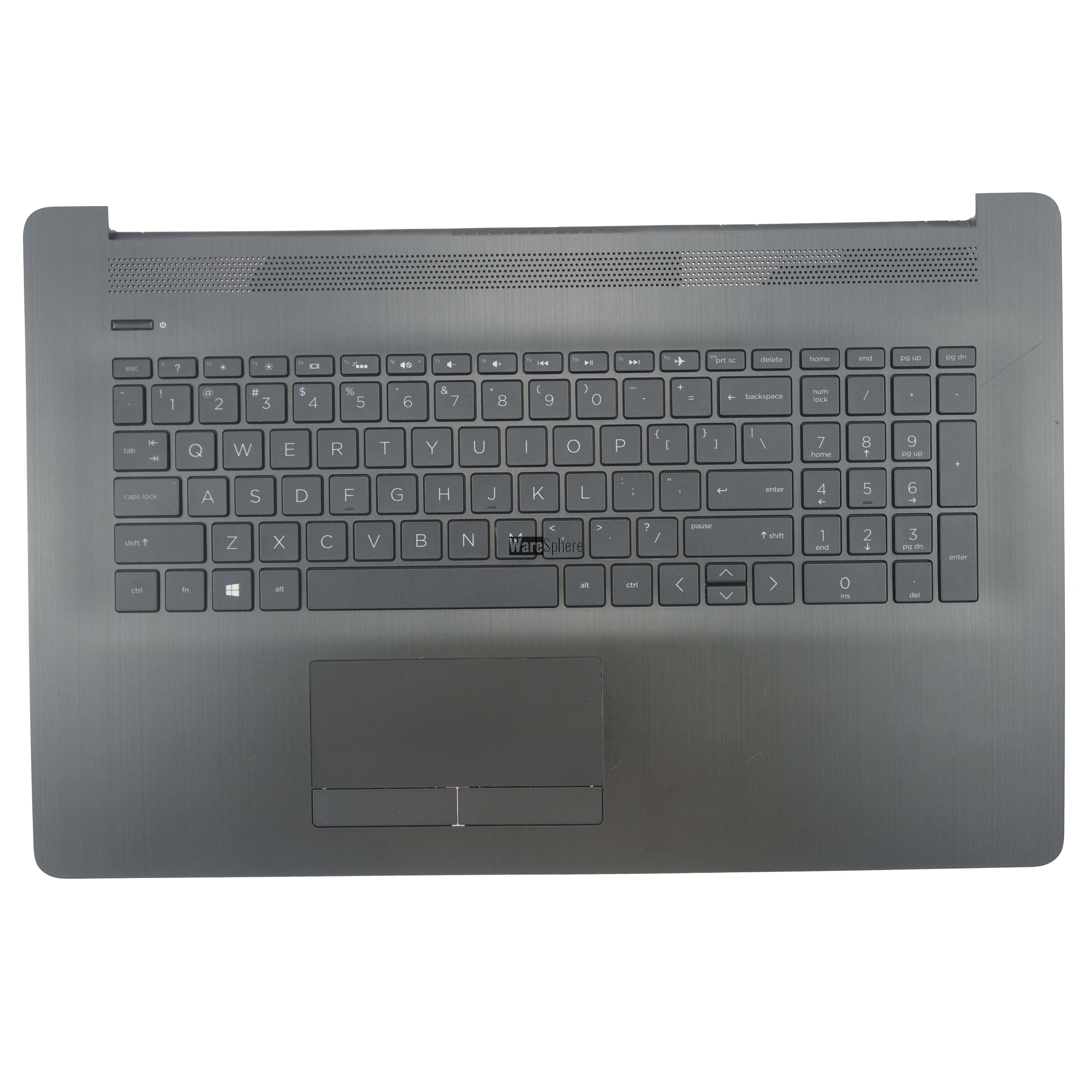 Top Cover Upper Case for HP 17-BY Palmrest With Keyboard 6070B1308103 L22751-001 Black US