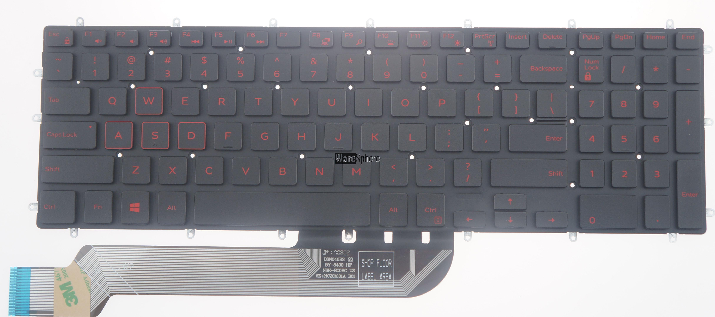 Laptop US Backlit Keyboard for Dell g3 3590 03VNJK 3VNJK Black red words