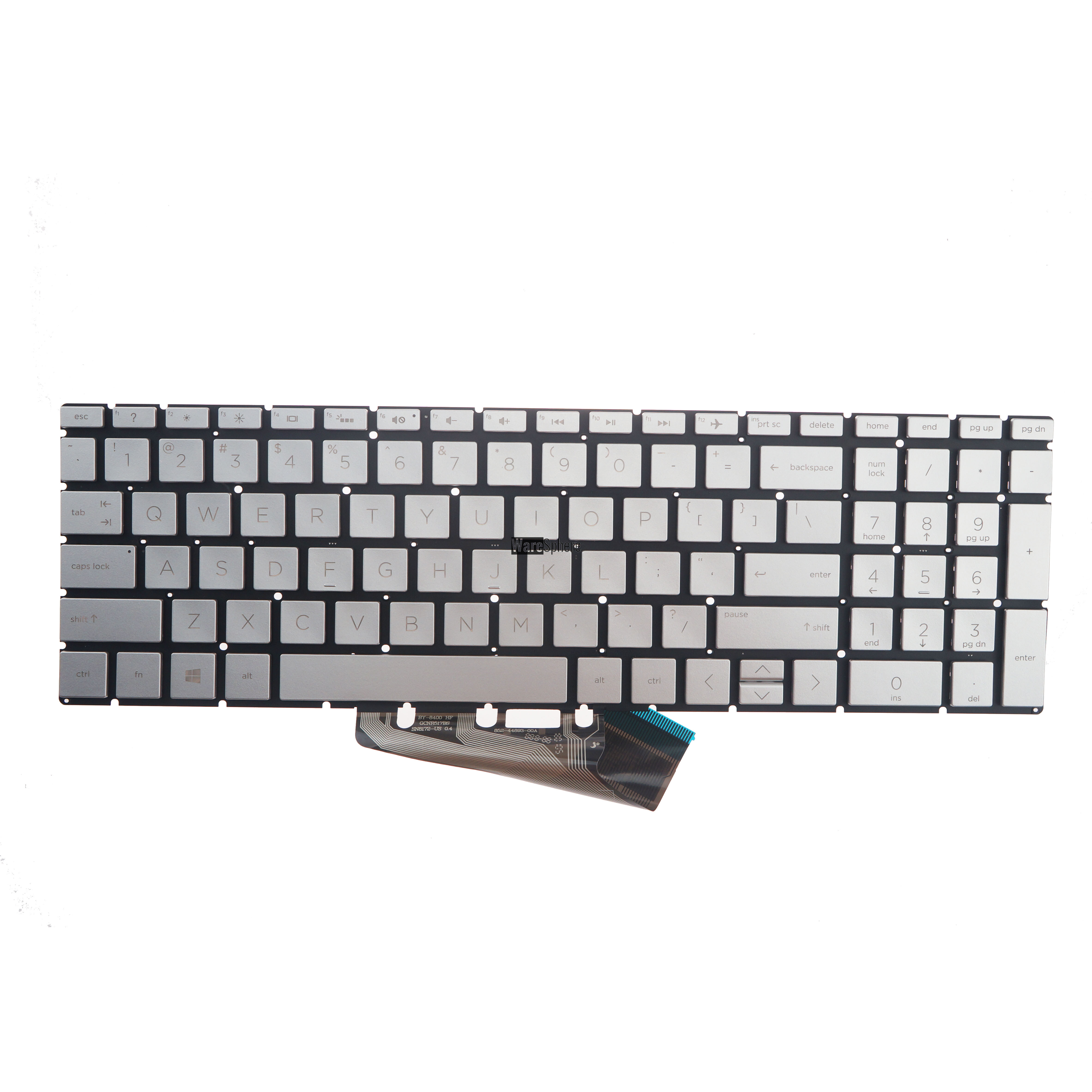Keyboard For HP 17-BY 15-CR Sliver