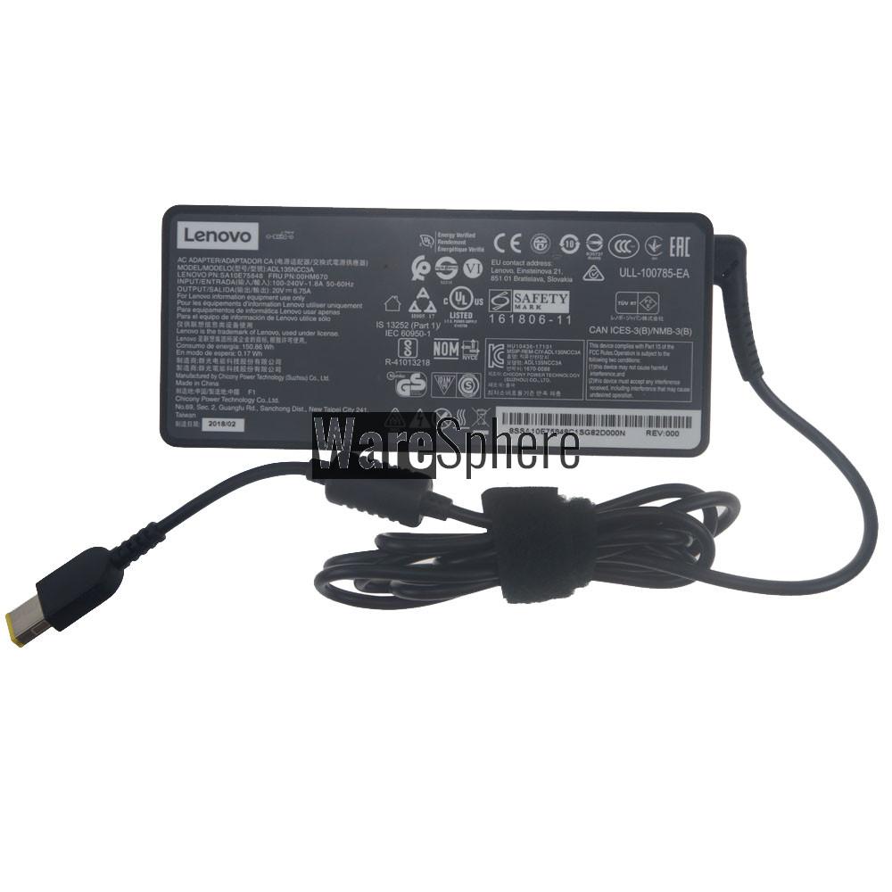 135W 20V 6.75A AC Adapter for Lenovo Ideapad 330-15ICH ADL135NCC3A 0HM670 00HM670