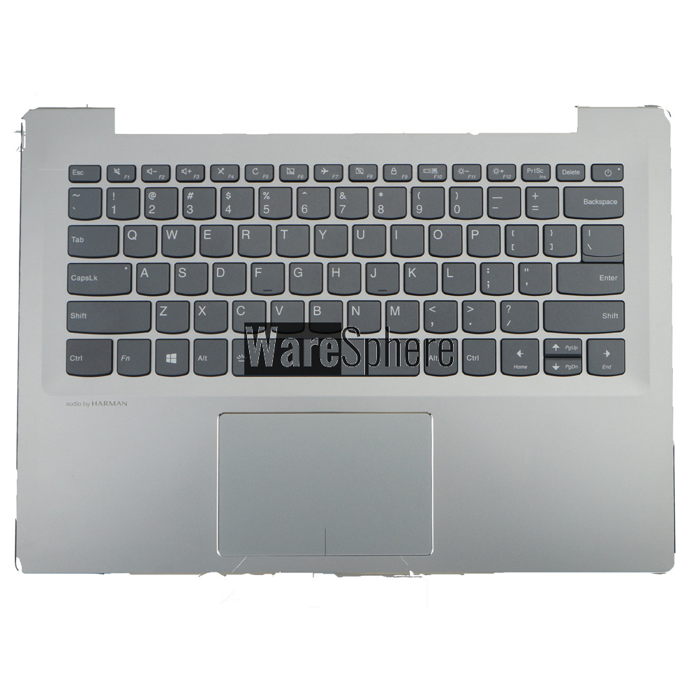 Top Cover Upper Case for Lenovo ideapad 520S-14IKB Palmrest with Backlit Keyboard Touchpad 5CB0N78559 Silver  US