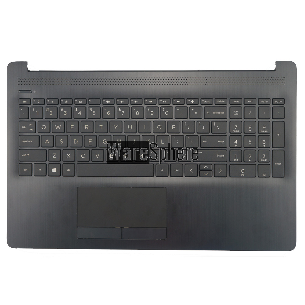 Top Cover Upper Case for HP 15-DA Palmrest with Keyboard Touchpad AP29M000A00 Black US