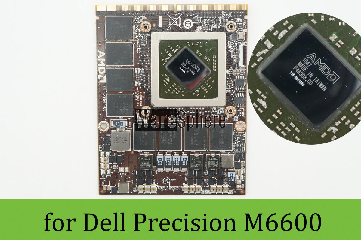AMD (ATI) FirePro M8900 GPU 2G GDDR5 MXM 3 0 Graphics Card for Dell  Precision M6600 6W46K