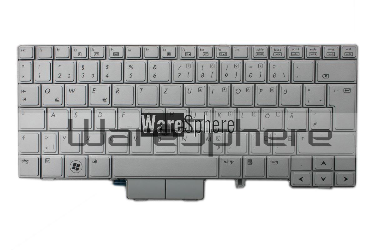Keyboard for HP Elitebook 2740P Silver MP-09B66D06442 German