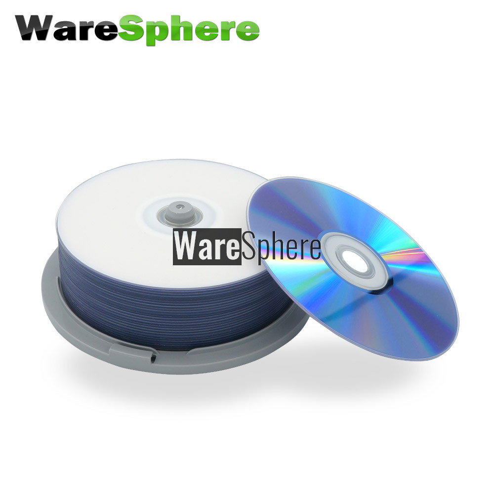 photo about Printable Blu Ray Discs called Quality A BD-R DL 50GB 8x Rate Inkjet Printable Blu-ray Disc - 25 Spindle