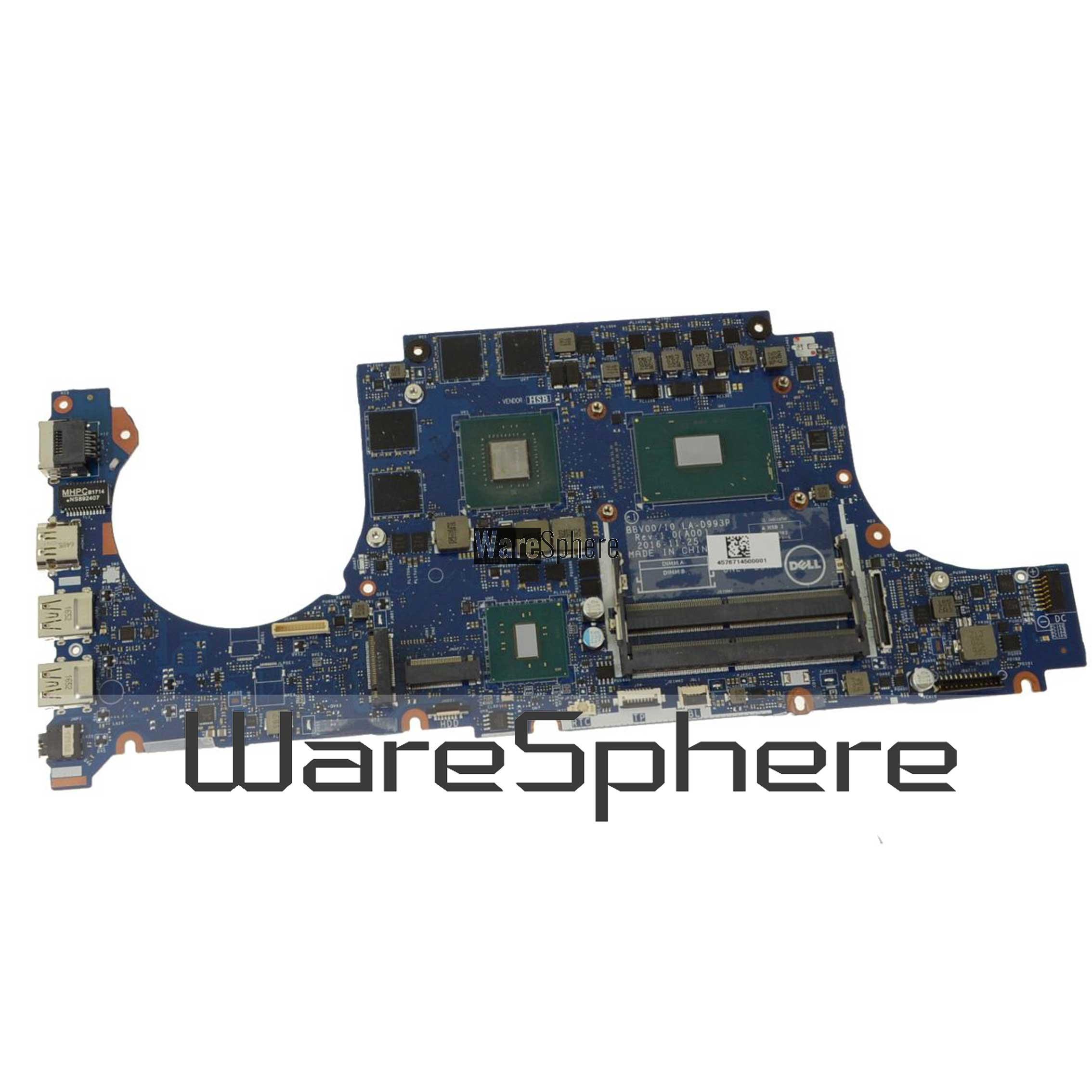 Motherboard Intel i7-7700HQ For Dell Inspiron 15 7567 P84C9 0P84C9 LA-D993P
