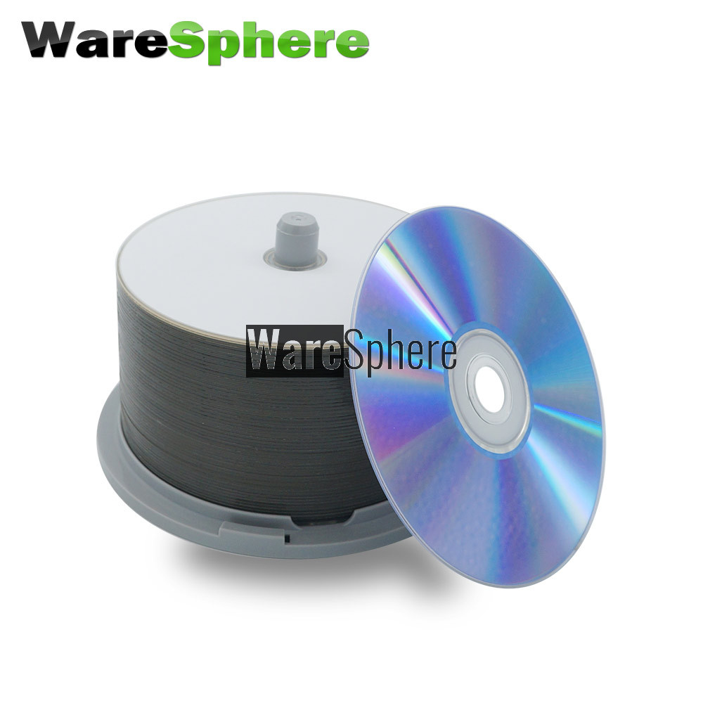 photo about Printable Blu Ray Discs referred to as Quality A BD-R DL 50GB 8x Tempo Inkjet Printable Blu-ray Disc - 50 Spindle