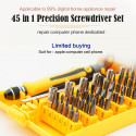 Precision 45 In 1 Electron Torx MIni Magnetic Screwdriver Tool Set Hand Tools Kit Opening Repair Phone Laptop Tools