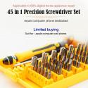 Precision 45 In 1 Electron Torx MIni Magnetic Screwdriver Tool Set Hand Tools Kit Opening Repair Phone Laptop Tools