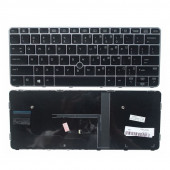 US Laptop keyboard for HP elitebook 725 G3 820 828 G4  Backlit Silver Frame