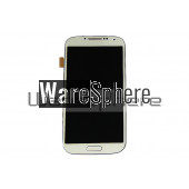 LCD Display and Touch Screen Digitizer W/ Frame for Samsung Galaxy S4 i9500 White