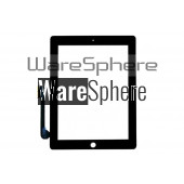 Touch Screen Replacement Digitizer Front Glass for  Apple iPad 3 Black