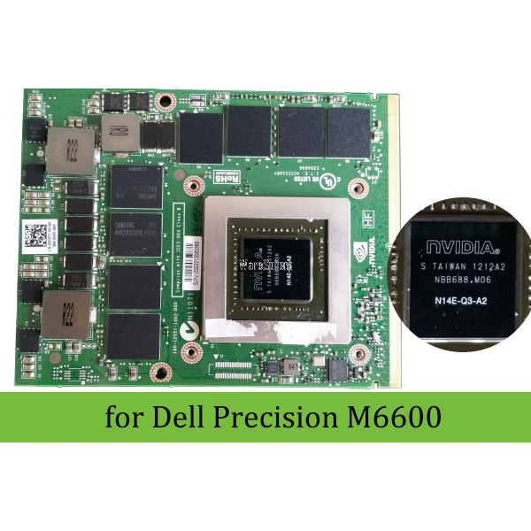 NVIDIA Quadro K4000M GPU 4GB GDDR5 MXM 3 0 Graphics Card for Dell Precision  M6600 N14E-Q3-A2 5DGTT